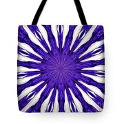 Blue Orchid Sunburst Kaleidoscope Tote Bag