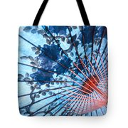 Blue Ornamental Thai Umbrella Tote Bag