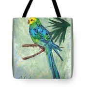 Blue Parakeet Tote Bag