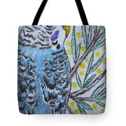 Blue Parakeet Tote Bag