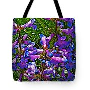 Blue Penstemon On Bald Mountain In Ketchum-idaho Tote Bag