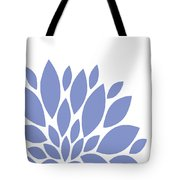 Blue Peony Flowers Tote Bag