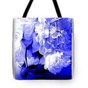 Blue Peony Tote Bag
