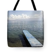 Blue Pier At Lake Ohrid Tote Bag