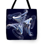 Blue Pipes Tote Bag