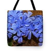 Blue Plumbago Tote Bag