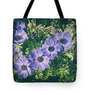 Blue Poppies Blooms Tote Bag