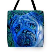 Blue Pug Tote Bag