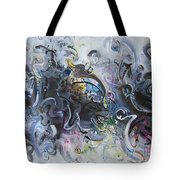 Blue Purple Abstract Movement Art Tote Bag