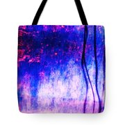Blue Purple White Metal Tote Bag