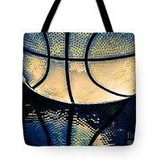 Blue Basketball Tote Bag
