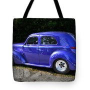 Blue Restored Willy Car Tote Bag