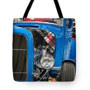 Blue Retro Beauty Tote Bag