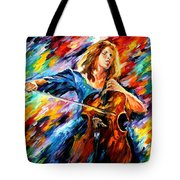 Blue Rhapsody - Palette Knife Oil Painting On Canvas By Leonid Afremov Tote Bag