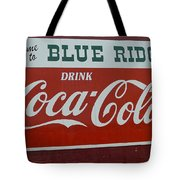 Blue Ridge Coca Cola Sign Tote Bag