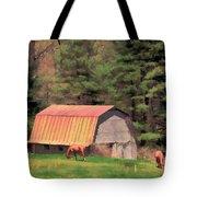 Blue Ridge Horses Tote Bag