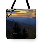 Blue Ridge Last Light Tote Bag