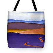 Blue Ridge Orange Mountains Sky And Road In Fall Tote Bag by Catherine Twomey