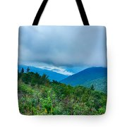 Blue Ridge Parkway National Park Sunrise Scenic Mountains Summer Tote Bag