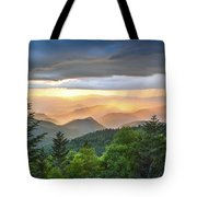 Blue Ridge Parkway Nc - Golden Rainbow Tote Bag