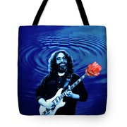 Blue Ripple From A Red Rose Tote Bag