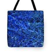 Blue Rippling Water Pattern Tote Bag