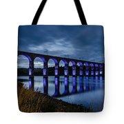 Blue Royal Border Bridge Tote Bag