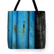 Blue Rusty Farm Gate Tote Bag