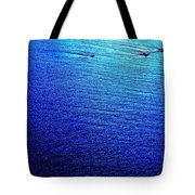 Blue Sand Abstract Tote Bag