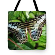 Blue Sea Butterfly Tote Bag