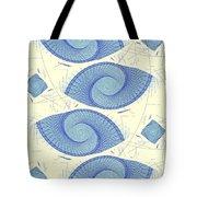 Blue Shells Tote Bag