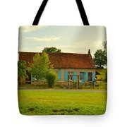 Blue Shuttered Cottage Tote Bag