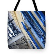 Blue Shutters In New Orleans Tote Bag