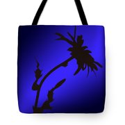 Blue Silhouette Tote Bag