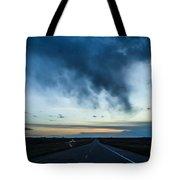 Blue Skies Above Tote Bag