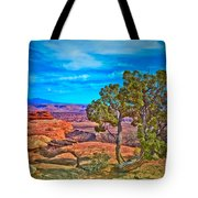 Blue Skies And Canyons Tote Bag