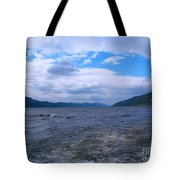 Blue Skies At Loch Ness Tote Bag