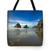Blue Skies Over Meyers Beach Tote Bag by Adam Jewell