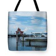 Blue Skies Over Seneca Lake Marina Tote Bag