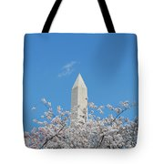 Blue Skies With Washington Monument Tote Bag