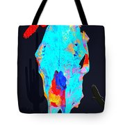 Blue Skulls At Dusk Tote Bag