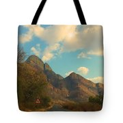 Blue Sky And Mountains Tote Bag