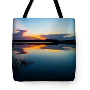 Blue Sky And Water Tote Bag