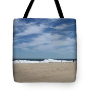 Blue Sky And Waves Tote Bag