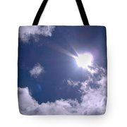 Blue Sky Clouds And Sunshine Tote Bag