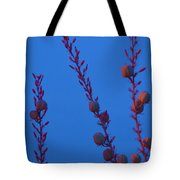 Blue Sky Flowers At Night Tote Bag