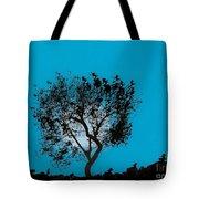 Blue Sky Moon Tote Bag