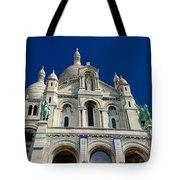 Blue Sky Over Sacre Coeur Basilica Tote Bag