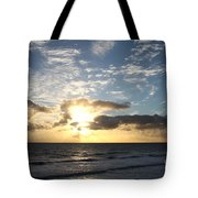 Blue Sky Sunrise Tote Bag