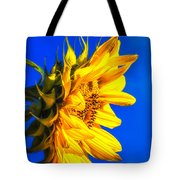 Blue Sky Sunshine Sunflower Tote Bag